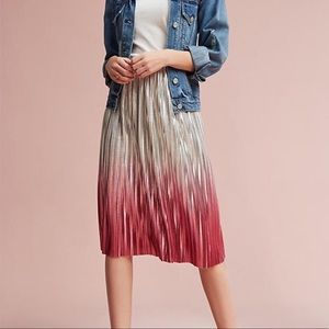 Seen worn kept Ombré Metallic Skirt